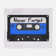 Tape Cassette Never Forget Throw Blanket