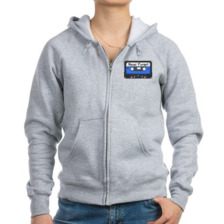 Tape Cassette Never Forget Women's Zip Hoodie