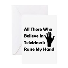 Telekinesis Greeting Card