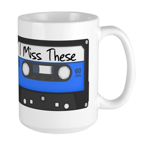Tape Cassette Never Forget Large Mug