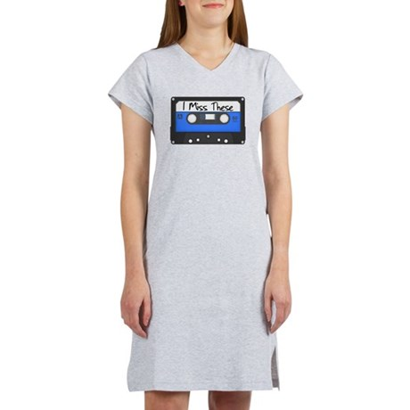 Tape Cassette Never Forget Women's Nightshirt