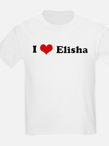 I Love Elisha Kids T-Shirt