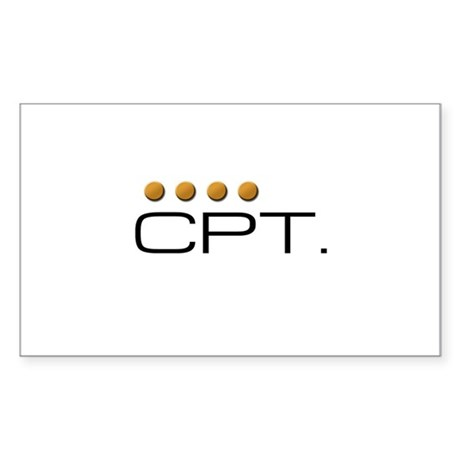 Star Trek - CPT. Sticker (Rectangle)