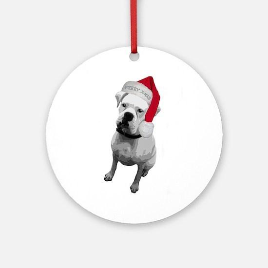 Boxer Dog Ornament (Round)