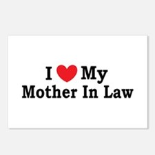 I love my Mother In Law Postcards (Package of 8)