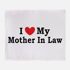 I love my Mother In Law Throw Blanket