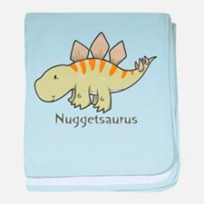 Nuggetsaurus baby blanket