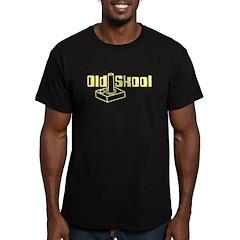 Old Skool Joystick Men's Fitted T-Shirt (dark)