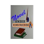 Novel Under Construction Rectangle Magnet (10 pack