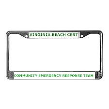 Virginia Beach CERT License Plate Frame