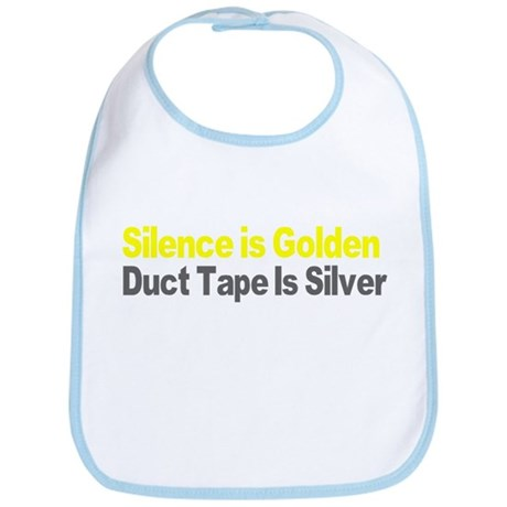 Silence and Duct Tape Bib