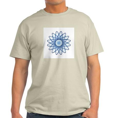 Blue Spirograph Rose Light T-Shirt