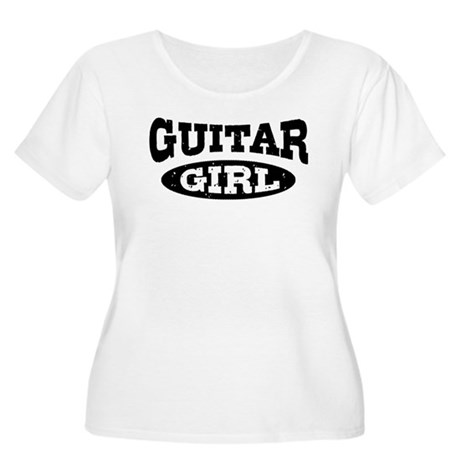 Guitar Girl Women's Plus Size Scoop Neck T-Shirt