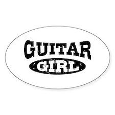 Guitar Girl Decal