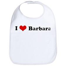I Love Barbara Bib