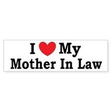 I love my Mother In Law Car Sticker