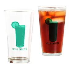 Hello, Sweetea Drinking Glass