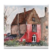 Belgian Historic House Tile Coaster