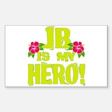 Beach Bum Hero Sticker (Rectangle)