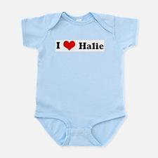 I Love Halie Infant Creeper