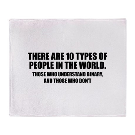 10 types of people Throw Blanket