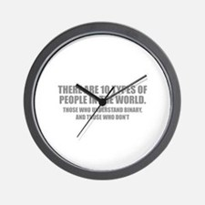 10 types of people Wall Clock