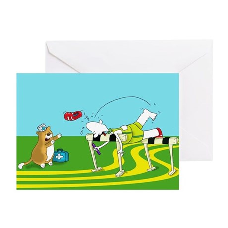funny hurdle sports Greeting Cards (Pk of 20)
