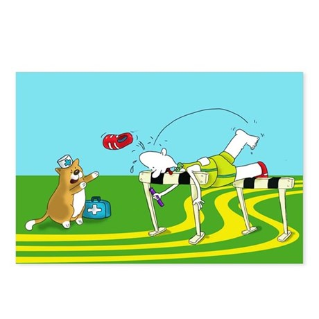 funny hurdle sports Postcards (Package of 8)