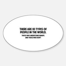 10 types of people Sticker (Oval)