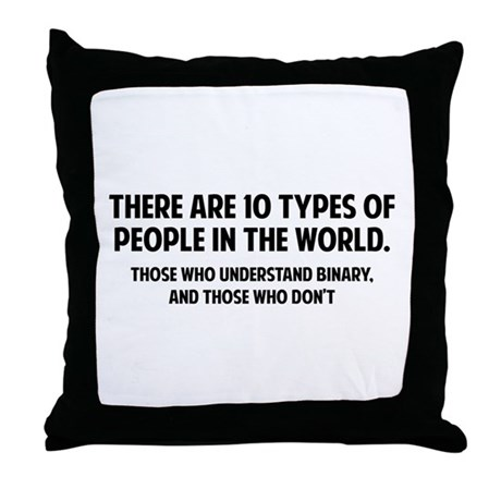 10 Types Of People Throw Pillow By Finestshirtsandgifts