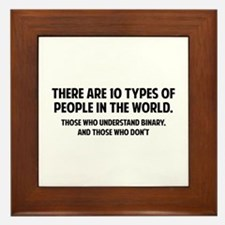 10 types of people Framed Tile