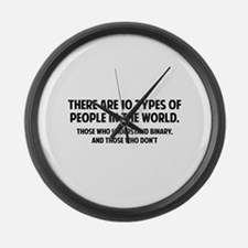 10 types of people Large Wall Clock