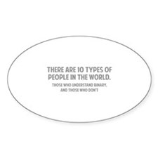 10 types of people Decal