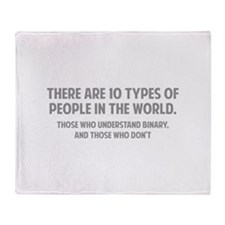 10 types of people Throw Blanket