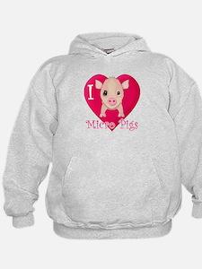 I Love Micro Pigs Hoody