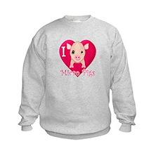 I Love Micro Pigs Sweatshirt