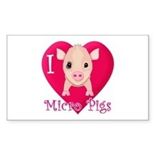 I Love Micro Pigs Decal