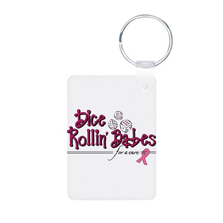 Dice Rollin' Babes for a Cure Aluminum Photo Keych