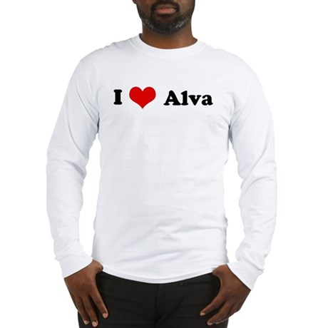 I Love Alva Long Sleeve T-Shirt