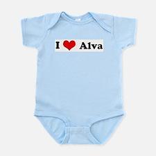 I Love Alva Infant Creeper