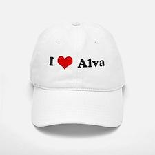 I Love Alva Baseball Baseball Cap