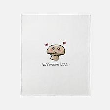 Mushroom love vegetarian Throw Blanket