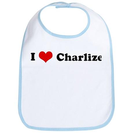 I Love Charlize Bib