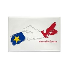 Acadian Flag Nova Scotia Rectangle Magnet