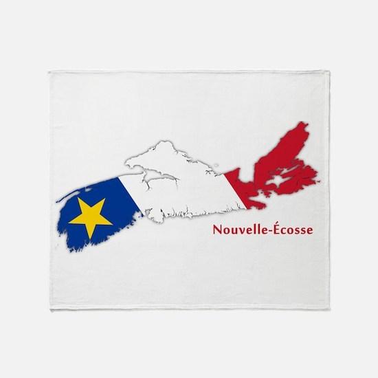 Acadian Flag Nova Scotia Throw Blanket