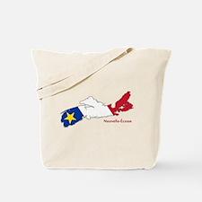Acadian Flag Nova Scotia Tote Bag