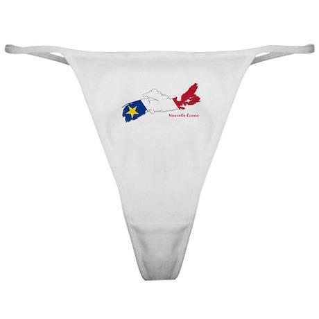 Acadian Flag Nova Scotia Classic Thong
