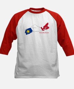Acadian Flag Nova Scotia Kids Baseball Jersey