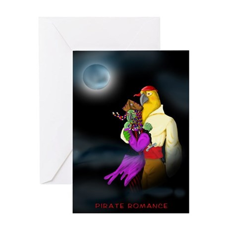 Parrot Pirate Valentine Greeting Card
