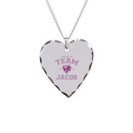 Team Jacob Necklace Heart Charm